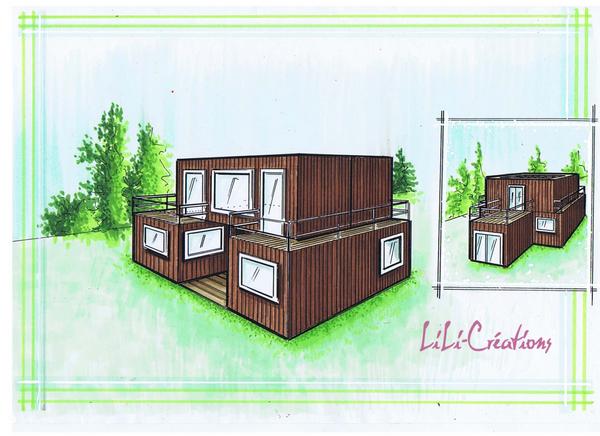 Toit Terrasse Maison Container : Toit V u00e9g u00e9tal, Jardin ou Terrasse Parfait pour les